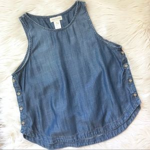 Anthropologie | Cloth & Stone Denim Chambray Tank